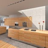 Het binnenland van de keuken royalty-vrije illustratie