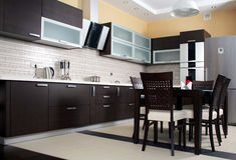 Het binnenland van de keuken stock afbeeldingen