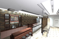 Het binnenland van de koffie Royalty-vrije Stock Afbeelding