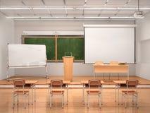 Het binnenland van de lezingszaal 3d Stock Foto's