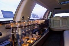 Het binnenland van de limousine Stock Fotografie