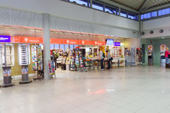 Het binnenland van de luchthaven Stock Afbeelding