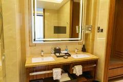 Het binnenland van de luxebadkamers Royalty-vrije Stock Afbeelding