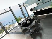 Het binnenland van de luxekeuken met modern meubilair Royalty-vrije Stock Foto