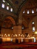 Het binnenland van de moskee Stock Fotografie