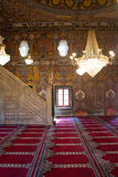 Het binnenland van de moskee Royalty-vrije Stock Afbeeldingen