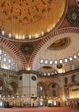 Het binnenland van de moskee Stock Afbeeldingen