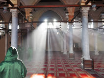 Het binnenland van de moskee - kolommen Stock Afbeelding