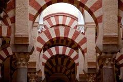 Het binnenland van de Moskee van Cordoba Royalty-vrije Stock Afbeeldingen