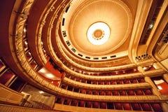 Het binnenland van de Opera van Wenen Royalty-vrije Stock Foto