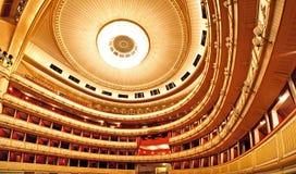 Het binnenland van de Opera van Wenen Stock Foto's