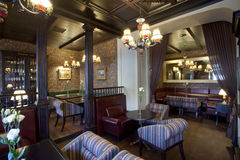 Het binnenland van de restaurantbar royalty-vrije stock foto's