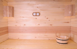 Het binnenland van de sauna Royalty-vrije Stock Fotografie