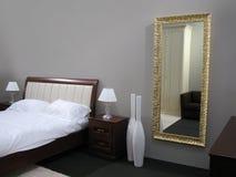 Het binnenland van de slaapkamer Royalty-vrije Stock Afbeeldingen