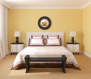 Het binnenland van de slaapkamer. vector illustratie
