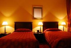 Het binnenland van de slaapkamer stock afbeelding