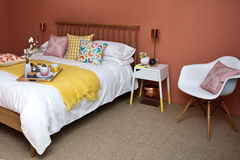 Het Binnenland van de slaapkamer Stock Fotografie