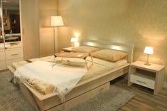 Het binnenland van de slaapkamer Stock Foto's