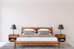 Het Binnenland van de slaapkamer 3d geef terug stock illustratie