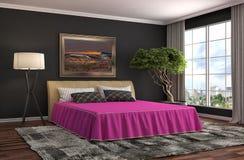 Het Binnenland van de slaapkamer 3D Illustratie Royalty-vrije Stock Foto