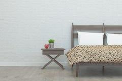 Het Binnenland van de slaapkamer het 3d teruggeven Stock Foto's