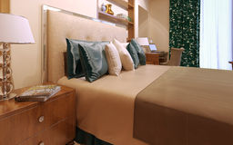 Het binnenland van de slaapkamerluxe Stock Foto