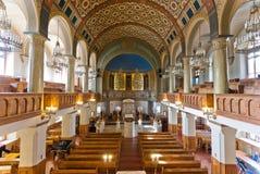 Het binnenland van de synagoge Stock Foto