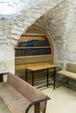 Het binnenland van de synagoge op het Graf van Samuel - de Helderziende in Jeruzalem in Israël Stock Foto's