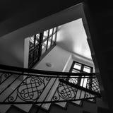 Het binnenland van de trap. Stock Foto's