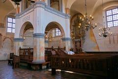 Het binnenland van de Tykocinsynagoge stock fotografie
