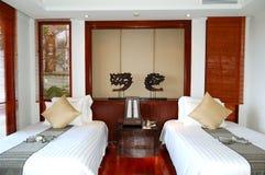 Het binnenland van de villa bij het luxehotel stock foto's