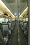 Het binnenland van de wagen in een trein royalty-vrije stock fotografie