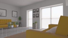 Het binnenland van de woonkamer Stock Afbeeldingen