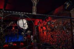 Het binnenland van de Zwarte nachtclub nam in Kirov-stad in 2016 toe Stock Fotografie