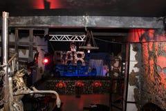 Het binnenland van de Zwarte nachtclub nam in Kirov-stad in 2016 toe Stock Afbeeldingen