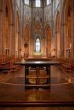Het binnenland van de Zweedse kerk. stock foto