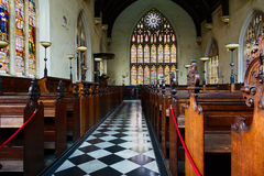 Het binnenland van een Engelse kapel Stock Foto's