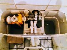 Het binnenland van een toiletvloed Royalty-vrije Stock Fotografie