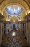Het binnenland van Engracia-kerk nu Nationaal Pantheon lissabon Stock Afbeelding