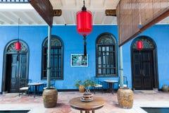 Het binnenland van Fatt Tze Mansion of Blauw Herenhuis, Penang Royalty-vrije Stock Foto's