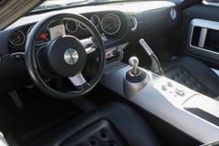 Het binnenland van Ford GT Stock Foto's