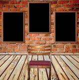 Het binnenland van Grunge met stoel Royalty-vrije Stock Afbeelding