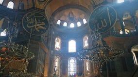 Het binnenland van Hagiasophia in Istanboel Turkije - architectuurachtergrond stock foto