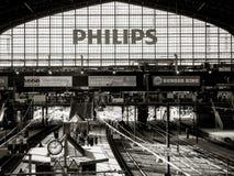 Het binnenland van Hamburg Hauptbahnhof wijd royalty-vrije stock foto