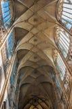 Het binnenland van heilige Vitus Cathedral stock fotografie