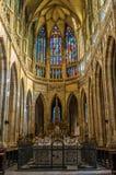 Het binnenland van heilige Vitus Cathedral royalty-vrije stock fotografie