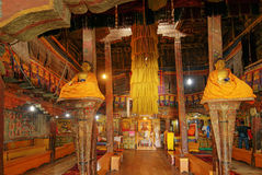Het binnenland van Hemismonsatery, Leh, Ladakh, Jammu en Kashmir, India Royalty-vrije Stock Foto's
