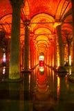 Het binnenland van het basiliekreservoir Stock Foto