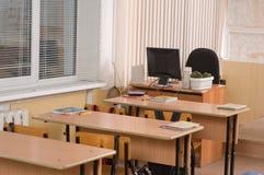 Het binnenland van het bureau op school. royalty-vrije stock foto's