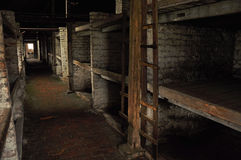 Het binnenland van het concentratiekamp Royalty-vrije Stock Fotografie